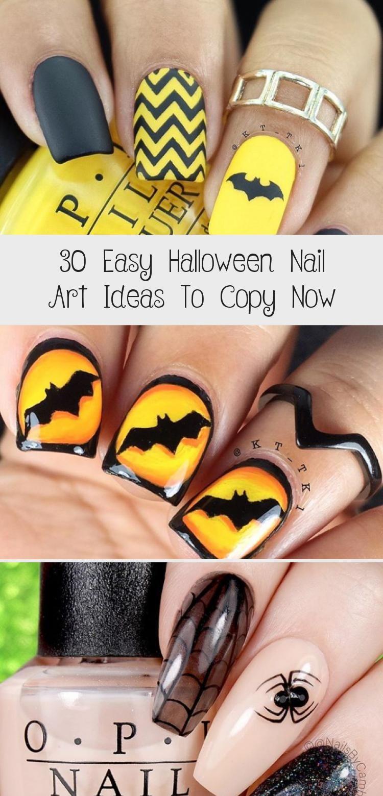 30 Easy Halloween Nail Art Ideas To Copy Now - Beauty