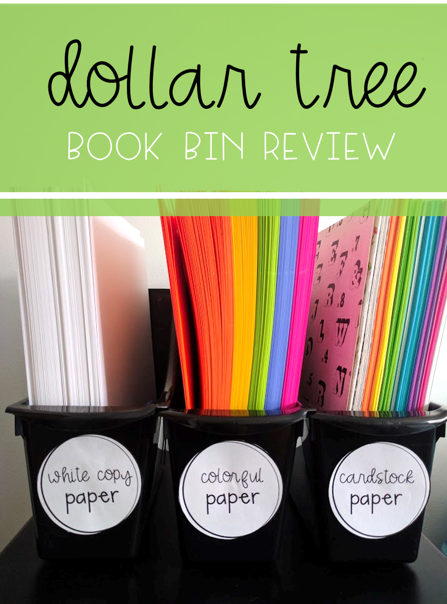 Book Bins- Dollar Tree Book Bin Review | For the Classroom ...