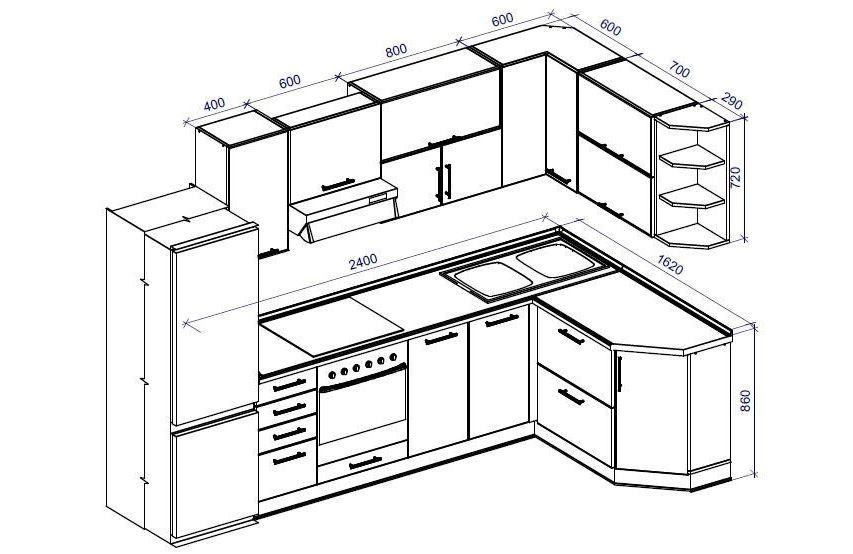 Сделать своими руками кухонный гарнитур чертежи и схемы 66