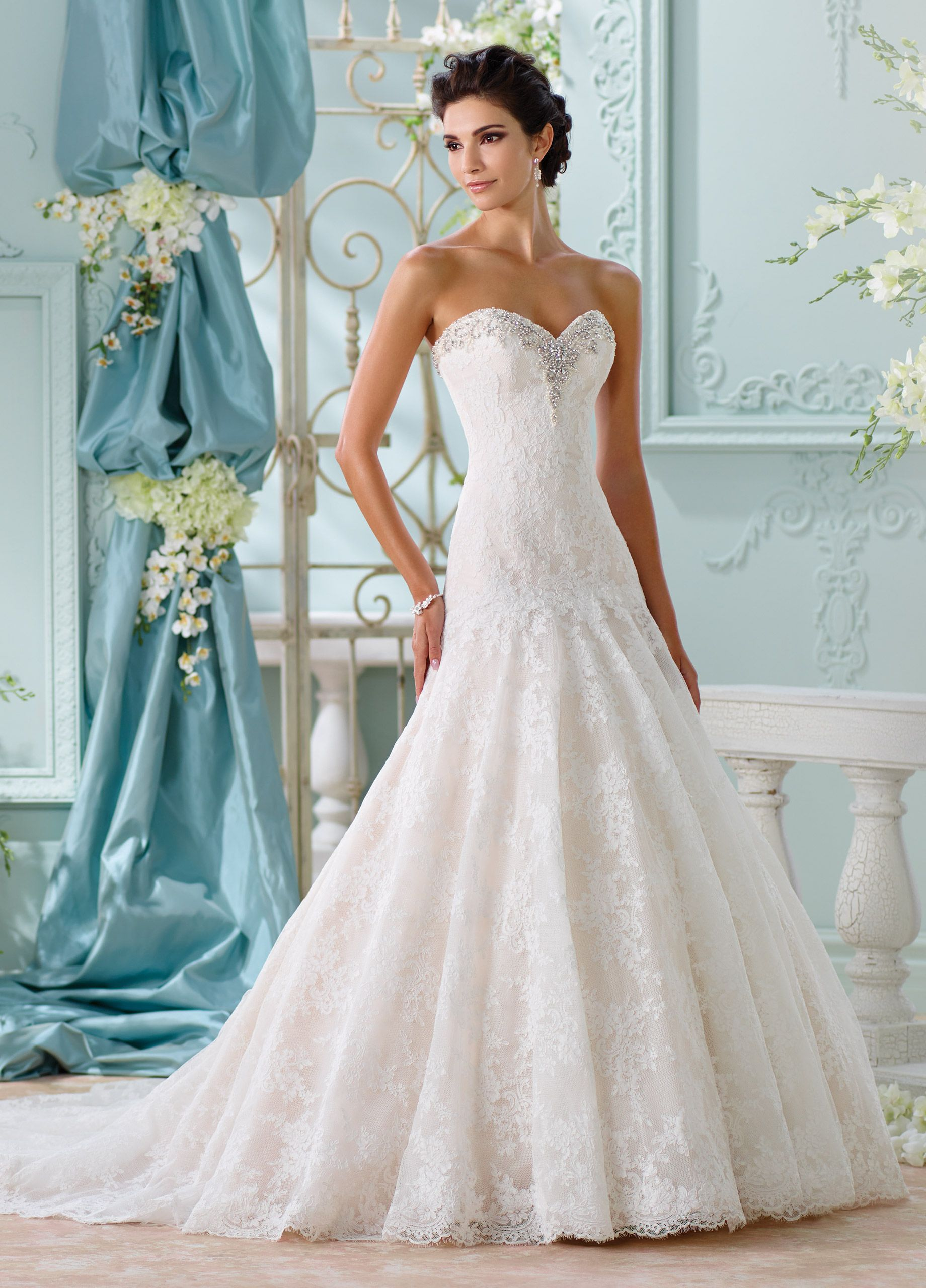 Allover Lace & Beaded A-Line Wedding Dress-116205 Chasca | Lace ...
