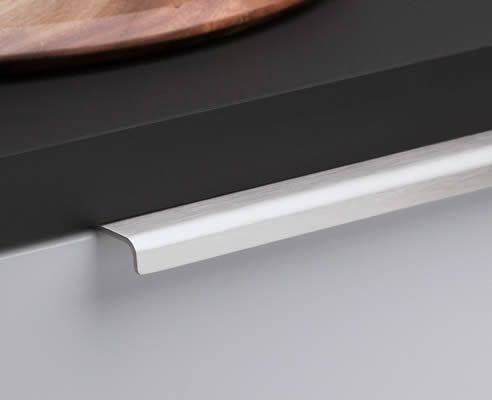 lip pull satin stainless steel | Kitchen cabinet handles ...