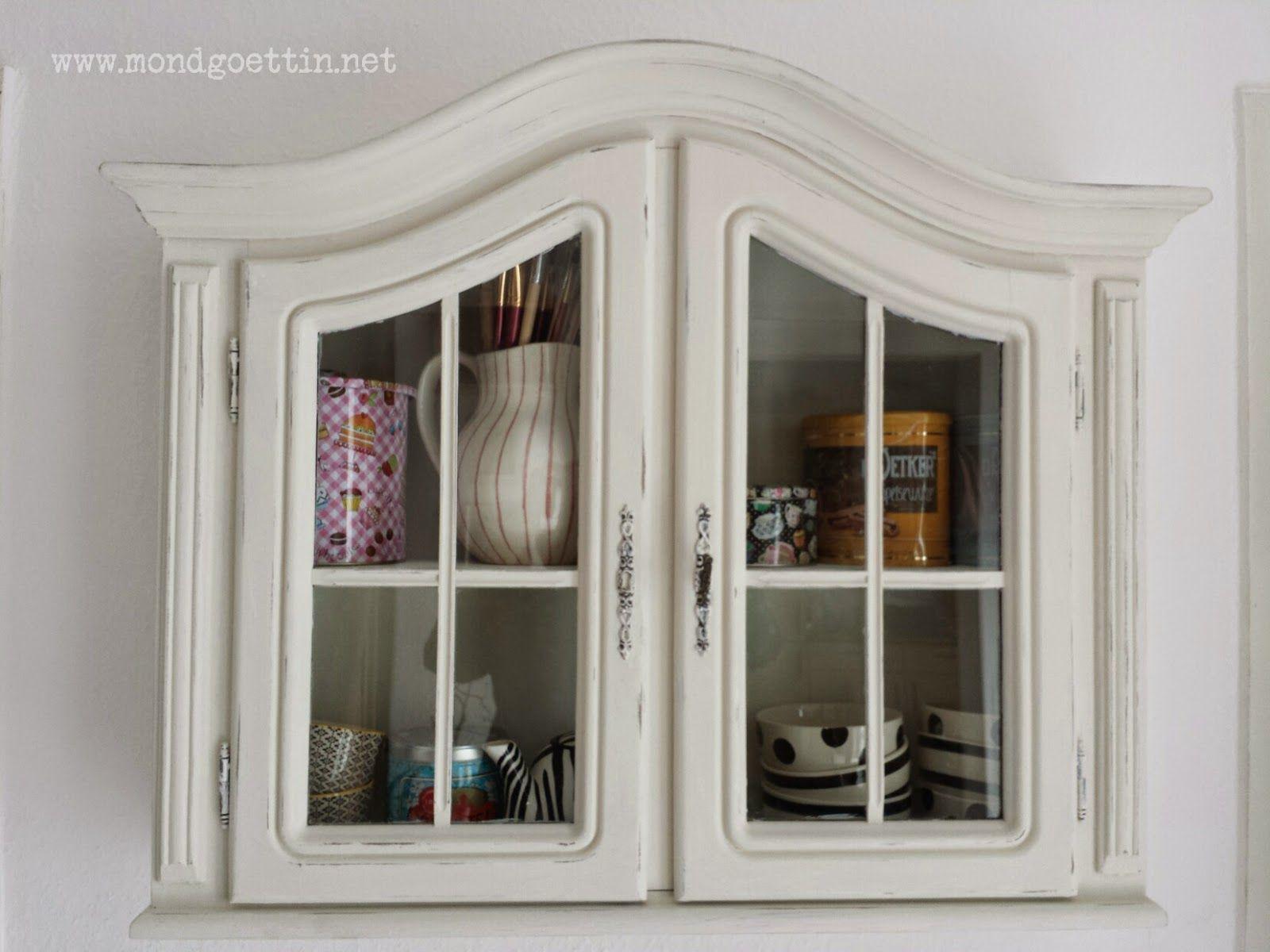 Pimp my cabinet / Aufgehübschte Vitrine / Upcycling