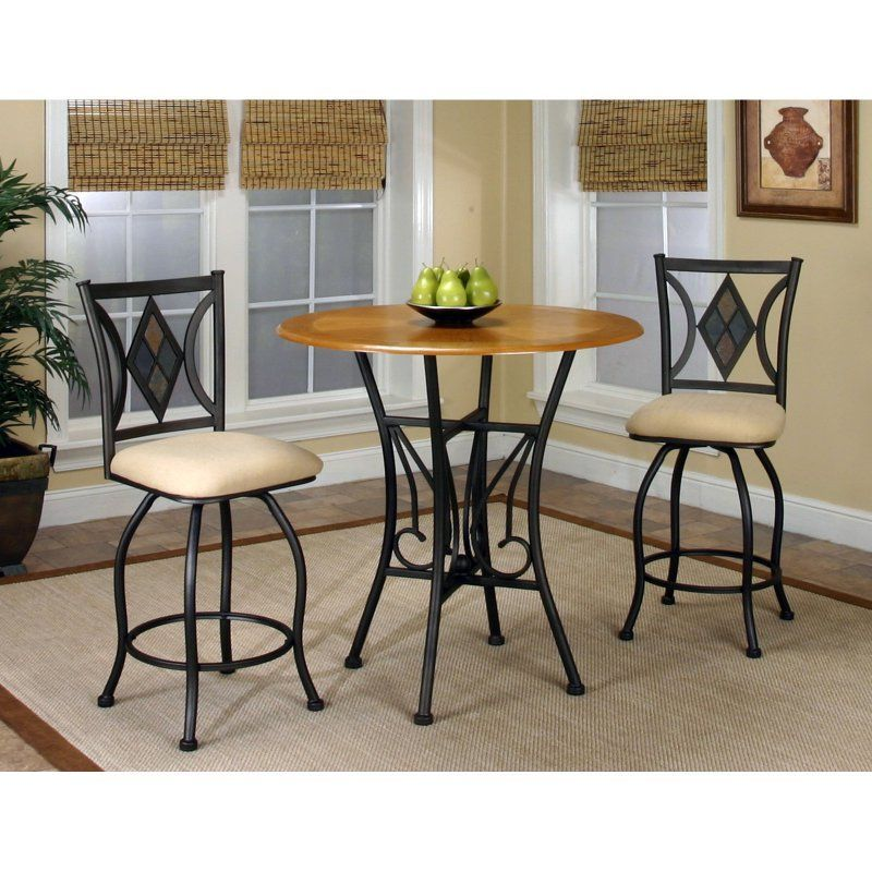 Sunset Trading Dart 3 Piece Pub Table Set Cr Y2091 3pc With