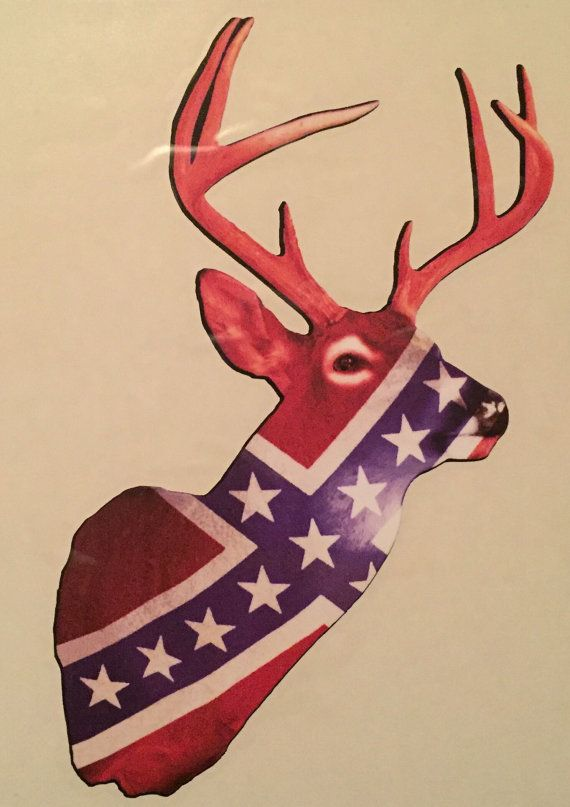 Confederate deer vinyl decal by jerondabouie on etsy