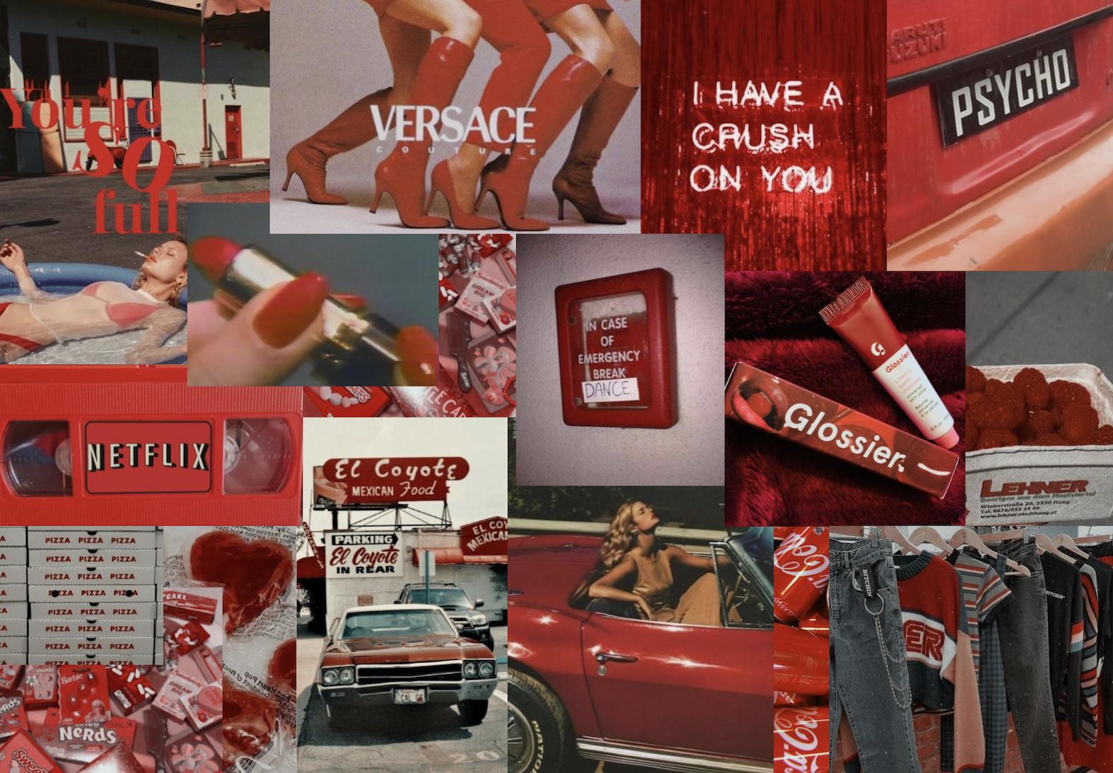 red computer wallpaper in 2020 Aesthetic desktop