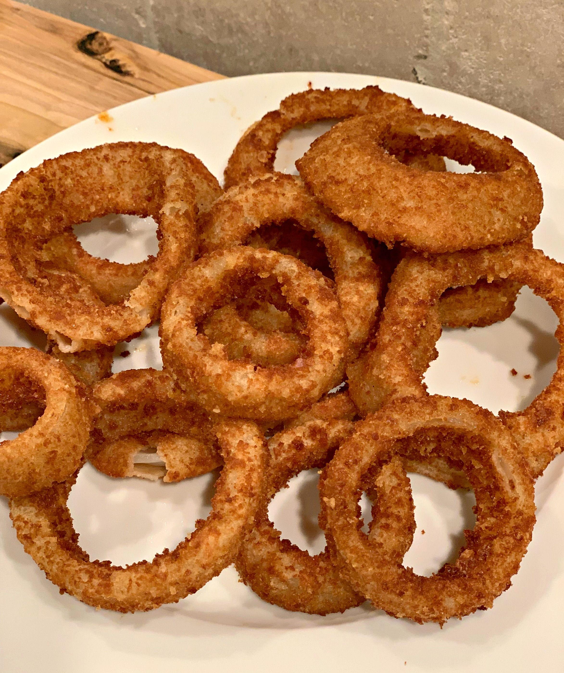 Crispy Air Fried Onion Rings Recipe Air frier recipes