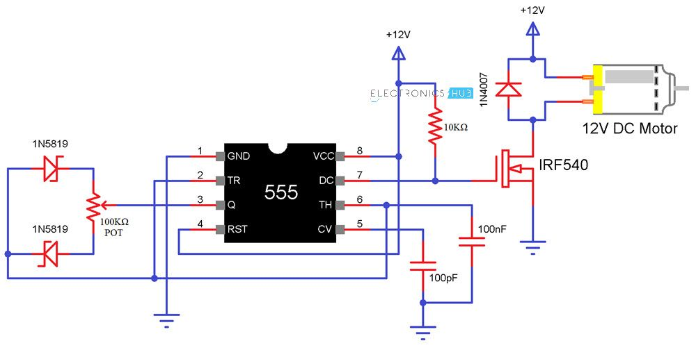 Remote Controlled Dc Drive Project With Circuit Diagram