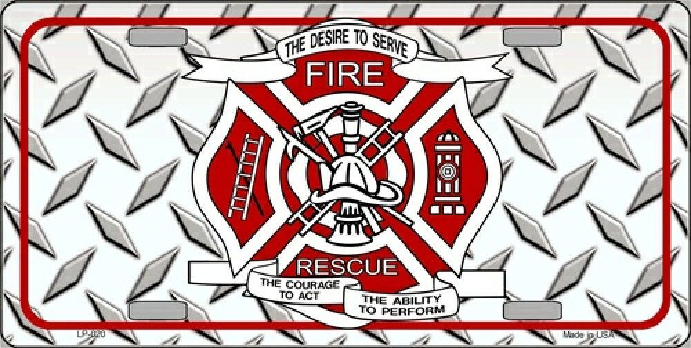 Fire fighter Custom License Plate Auto Tag 12 X 6