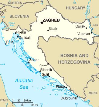 Croatia Genweb Croatia Map Croatia Travel Croatia