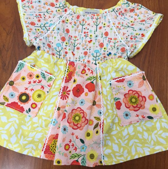 Floral Hodge-Podge Play Dress WTFP16 size 2 by WhigsandTories