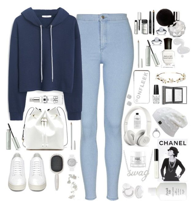 """Casual Monday"" by alwaysfashionablylate2 ❤ liked on Polyvore featuring Topshop, MANGO, Off-White, Earth Therapeutics, Sole Society, Bobbi Brown Cosmetics, Deborah Lippmann, Illamasqua, River Island and Cult Gaia"