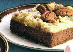 German Chocolate Cheesecake Squares Recipe #germanchocolatecheesecake