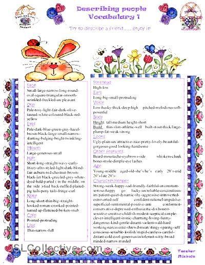 Describing people: vocabulary worksheet - Free ESL printable worksheets made by teachers