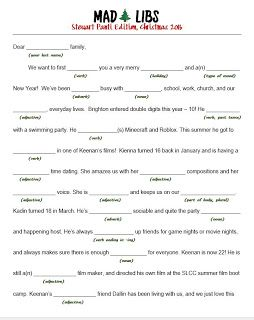 Mad Libs Christmas And 22 Other Ideas For Creative Christmas Letters Christmas Lettering Christmas Mad Libs For Kids Mad Libs