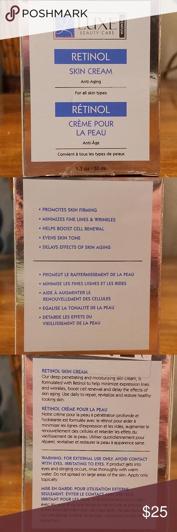 Sale Luxe Retinol Anti Aging Cream In 2020 Anti Aging Cream Retinol Face Firming