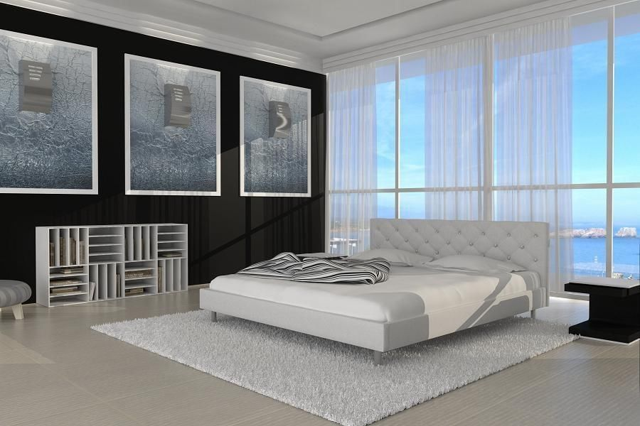 polsterbett doppelbett lederbett adonia bett betten. Black Bedroom Furniture Sets. Home Design Ideas