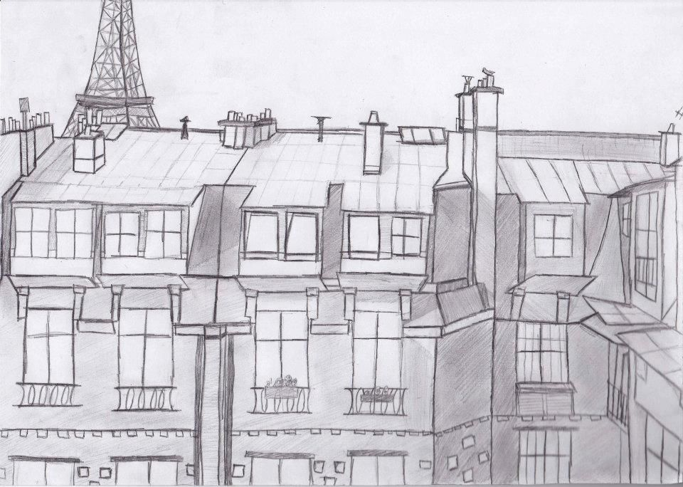 Dessin Immeuble Maison Pinterest Drawings