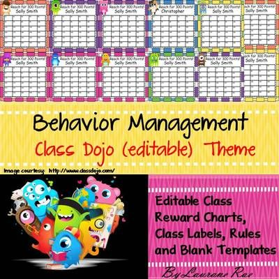 Behavior management editable class reward charts back to school from teachtotell on teachersnotebook also rh pinterest