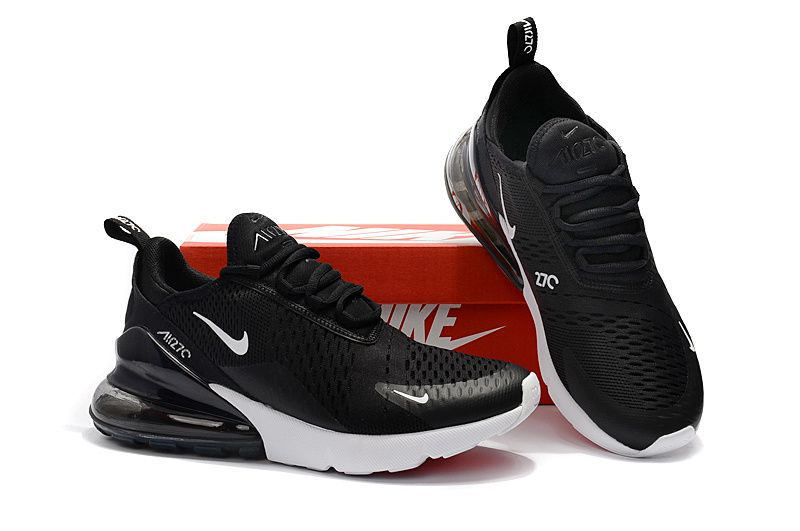 sports shoes 5e3a5 0fdb4 Spring Summer 2018 Official Nike Air Max 270 Flyknit 2018 Casual Running  Shoes Sneakers Black White AH8050-002