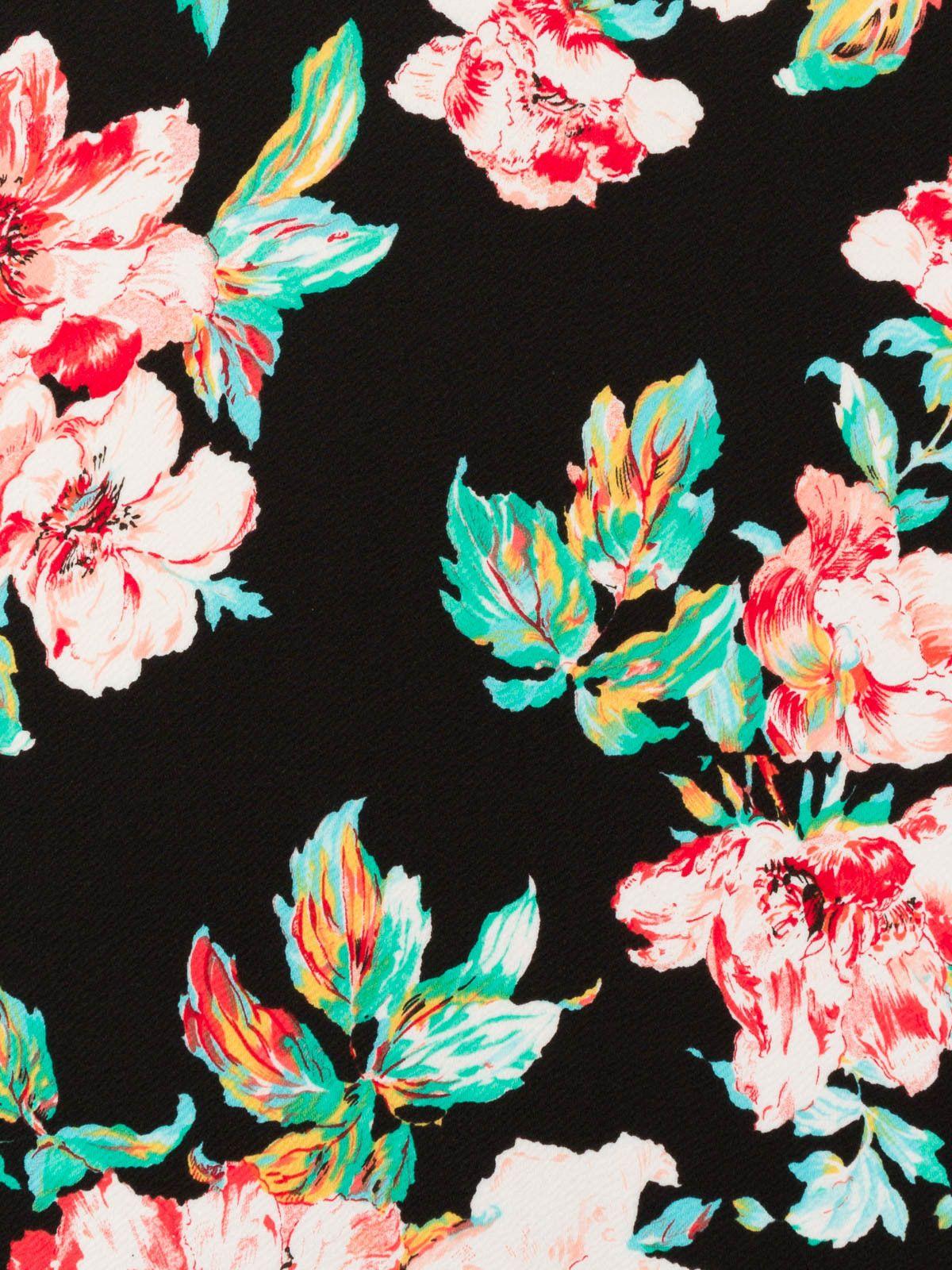 Sold Per Metre Large Scale Scuba Knit Fabric