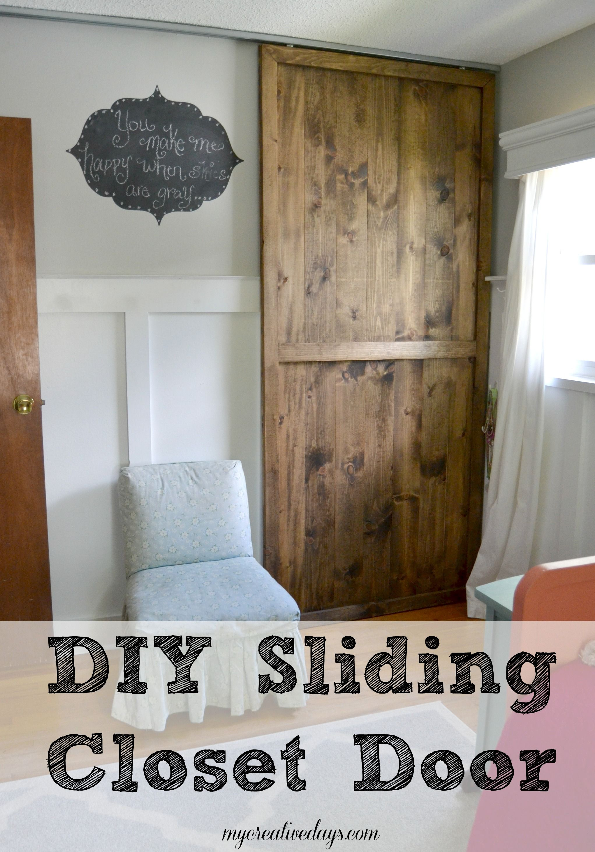 Need A New Closet Door? Do You Like The Look Of A Sliding Door? Make Your  Own With This DIY Sliding Closet Door From Mycreativedays.com.