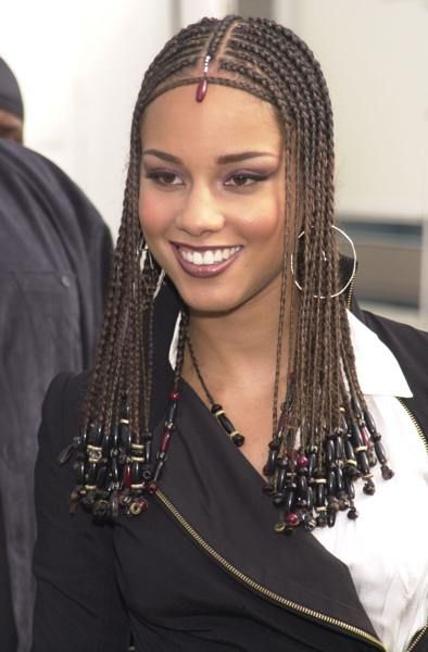 Fantastic Hairstyle Of Alicia Keys Egyptian Hairstyles Braided