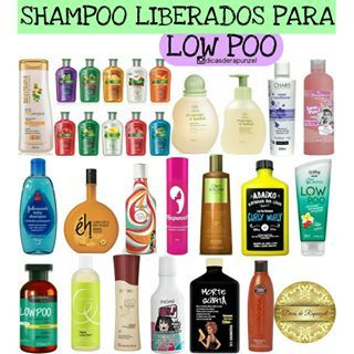 Exemplos De Shampoos Liberados Para Low Poo Shampoos Menos