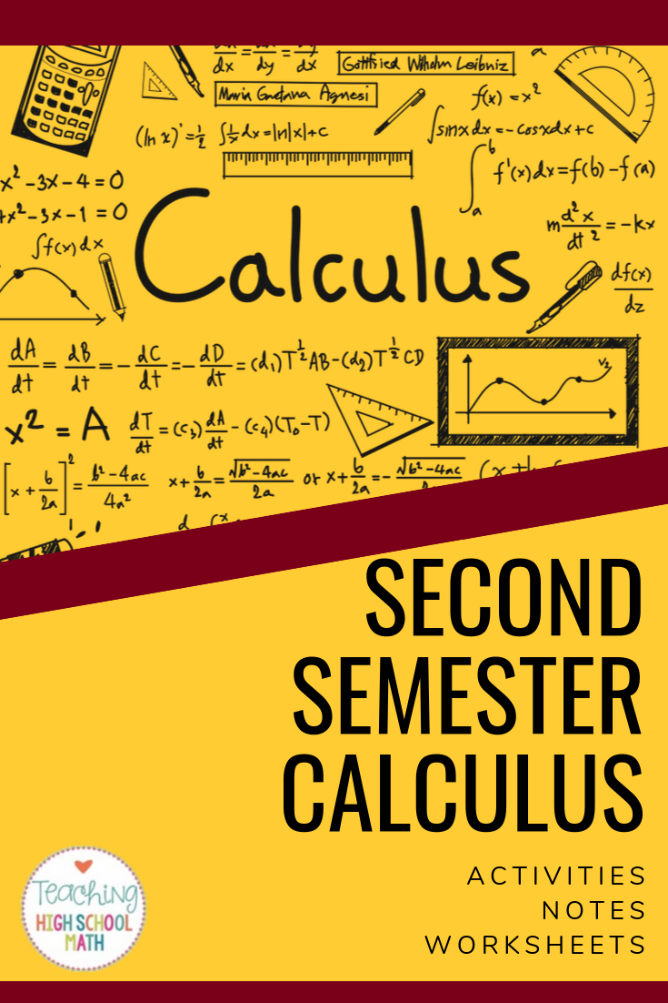 Looking For A Fun Way To Practice Second Semester Calculus Skills Check Out This Big Bundle Apcalculus Riemannsums High School Calculus Calculus Ap Calculus