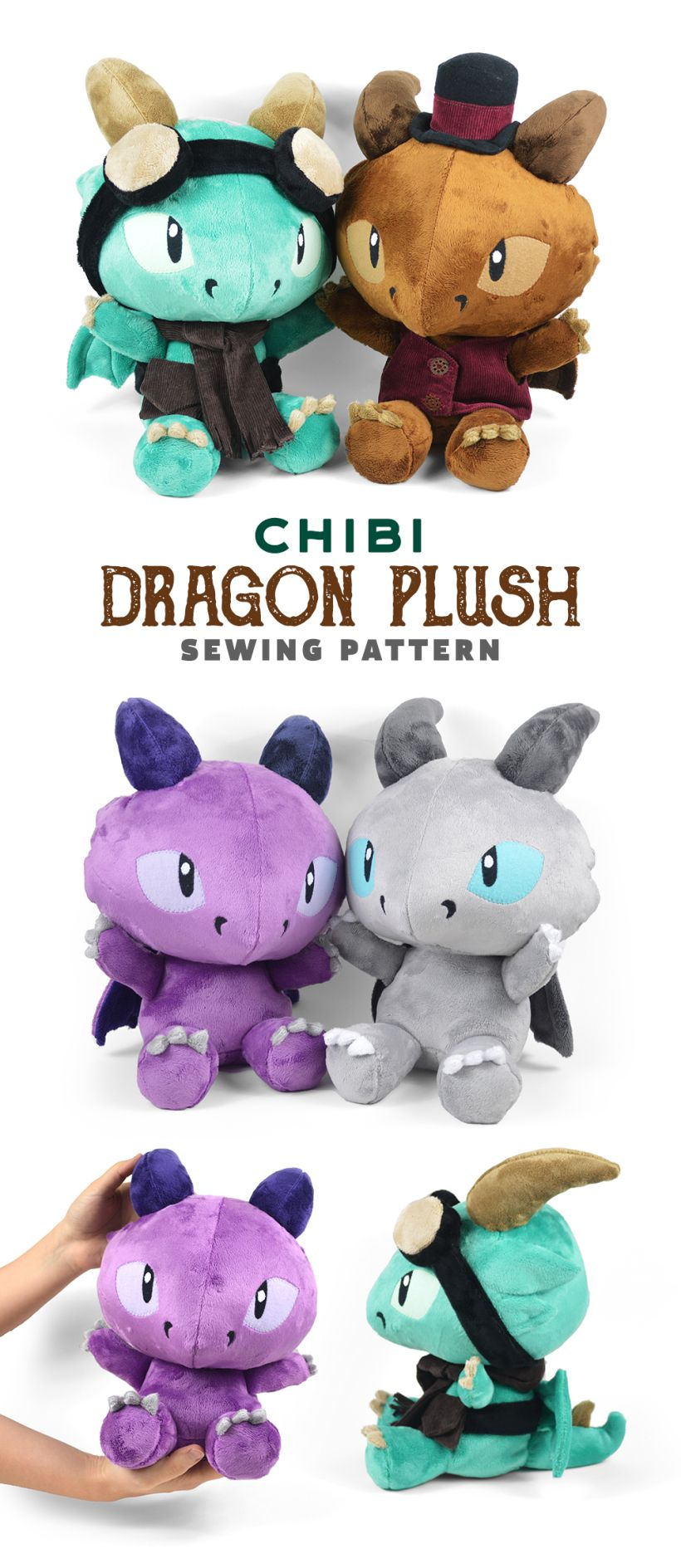Black Friday Sale & New Chibi Dragon Plush Pattern! | Choly Knight ...
