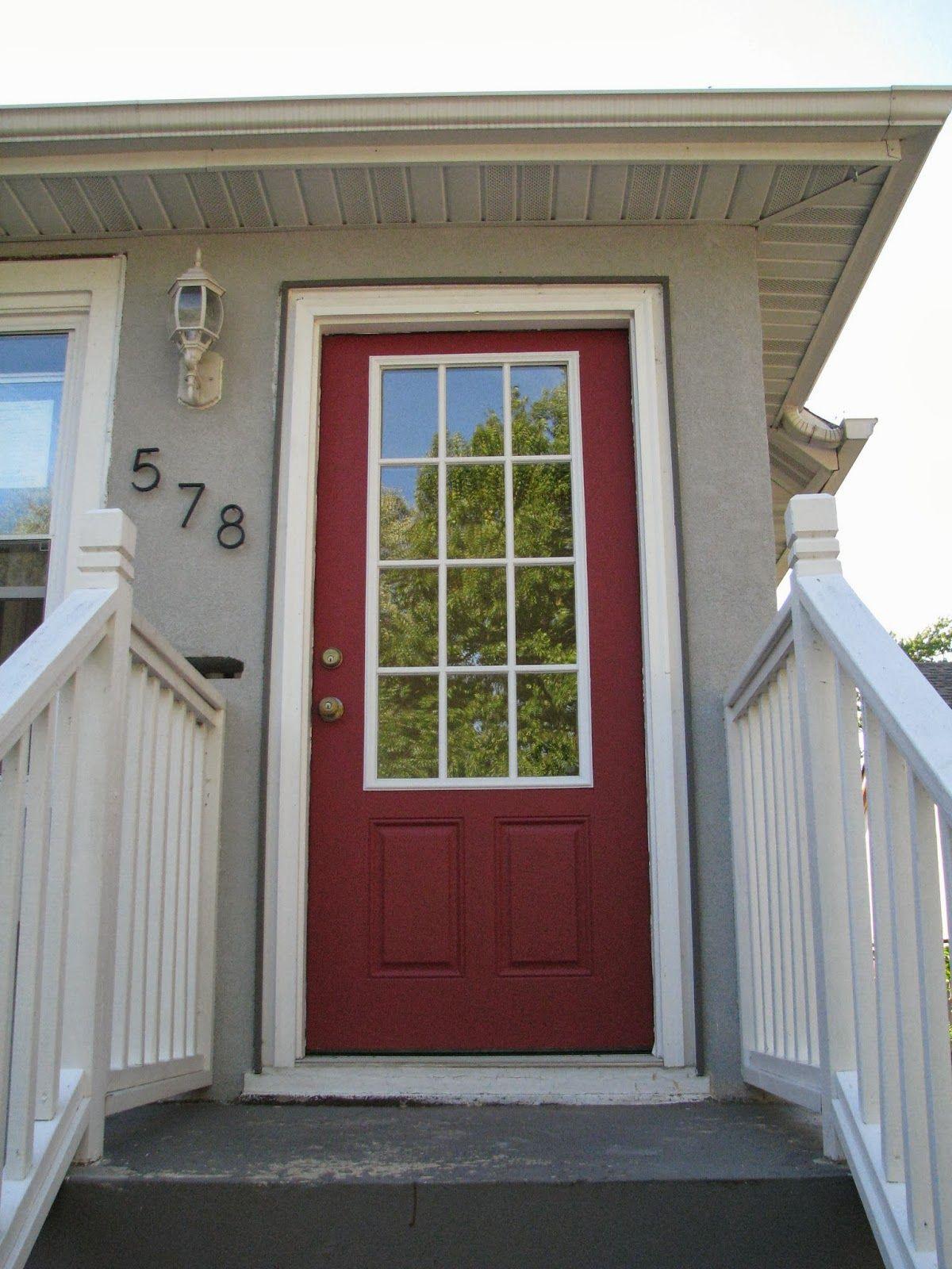 Behr Forbidden Red Painted Front Doors Front Door Door