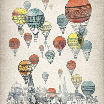 Voyages over Edinburgh Framed Art Print by David Fleck | Society6
