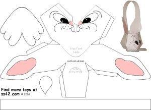 Free Printable Bunny Easter Basket printable template | easter