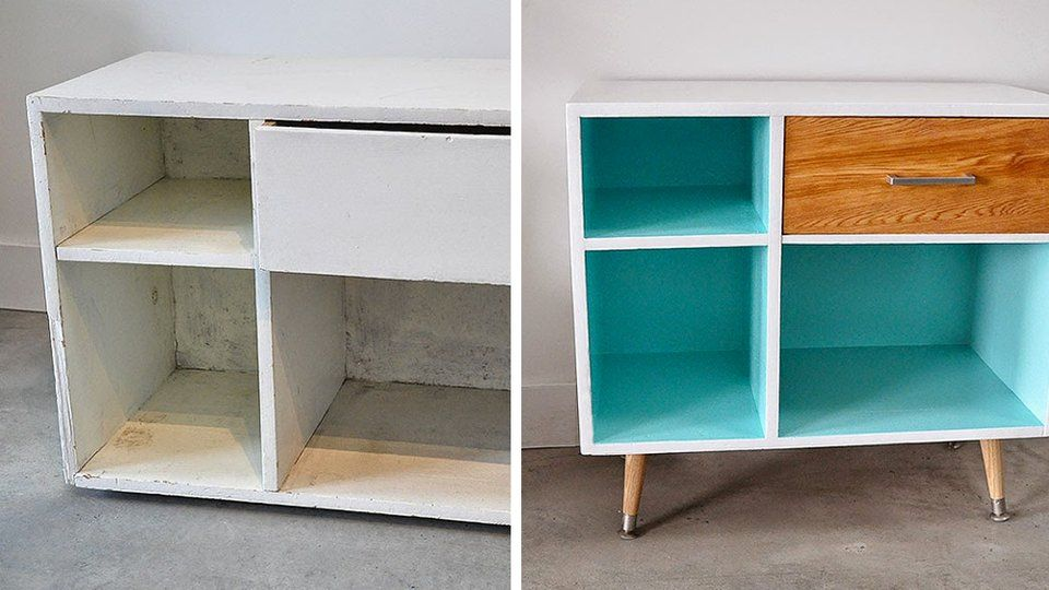 20 idées DIY pour relooker un meuble chiné Armoires, Buffet and - Moderniser Un Meuble Ancien