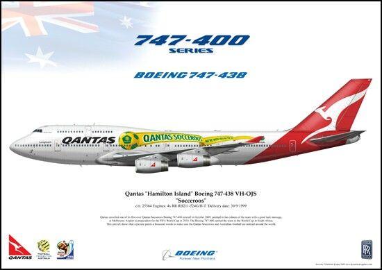 Boeing 747-400 quantas-socceroos