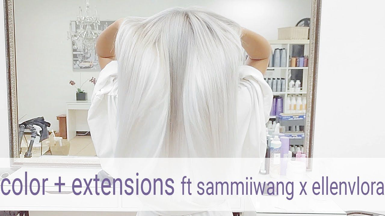 Silver Ice Tape In Hair Extensions With Sammiiwang And Ellenvlora