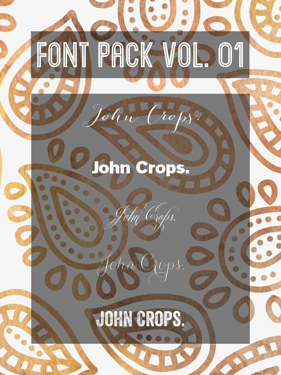 Download FONT PACK VOL. 01 by JohnCrops.deviantart.com on ...