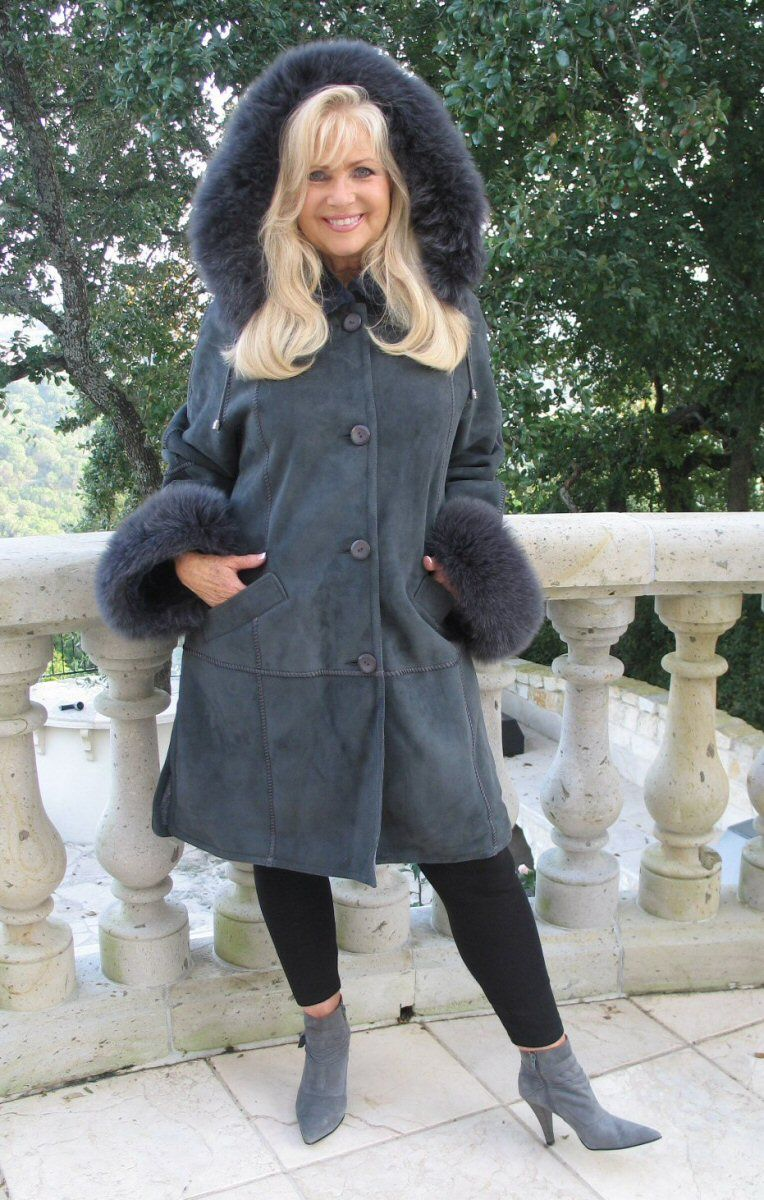 Check out the deal on Heather Hooded Spanish Merino Shearling ...