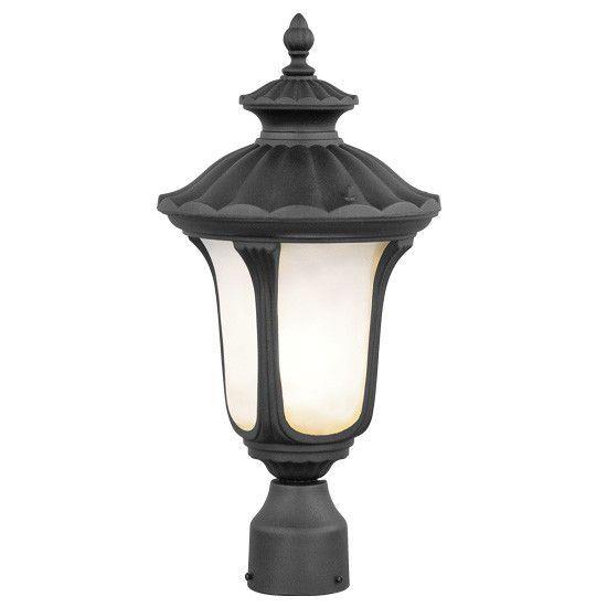 Livex Lighting 7655 04 Oxford Post Mount Black Post Lights Outdoor Post Lights Lamp Post Lights