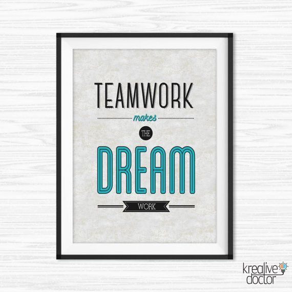 Teamwork Quotes For The Office Office Teamwork Quotes Wall Art Printable Success Quotes  Teamwork Quotes For The Office