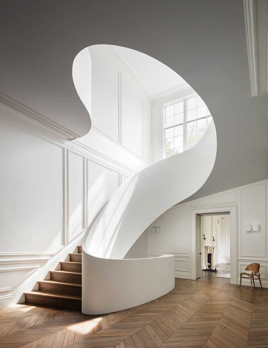 Contemporary Spiral Staircase by Steven Harris Architects | Stairs ...