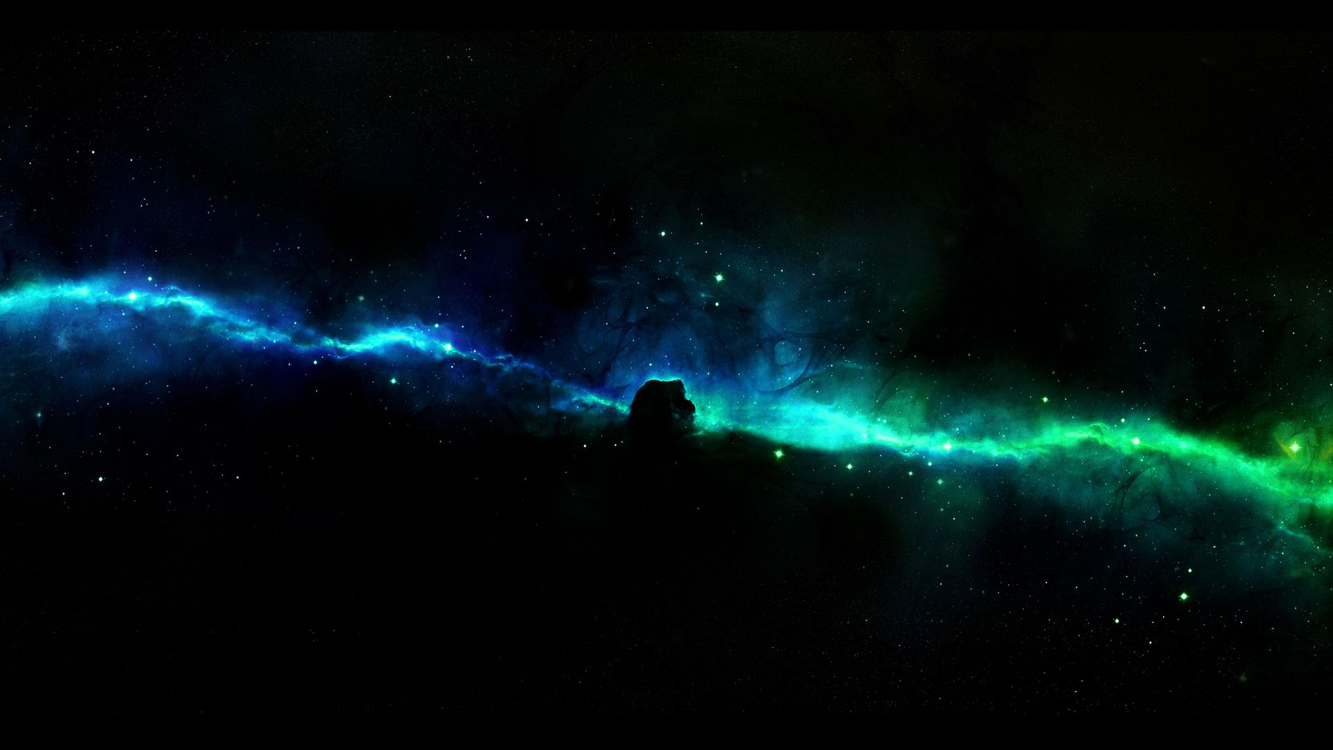 Blue Green Space Nebula HD Wallpaper 1920x1080 | Studio 3 ... Blue Nebula Wallpaper Widescreen