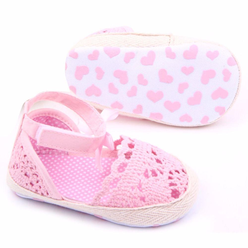 Zapatos de bebé, Koly ® Baby girl Flor patrón zapatos cuna suave suela (1, rosado)