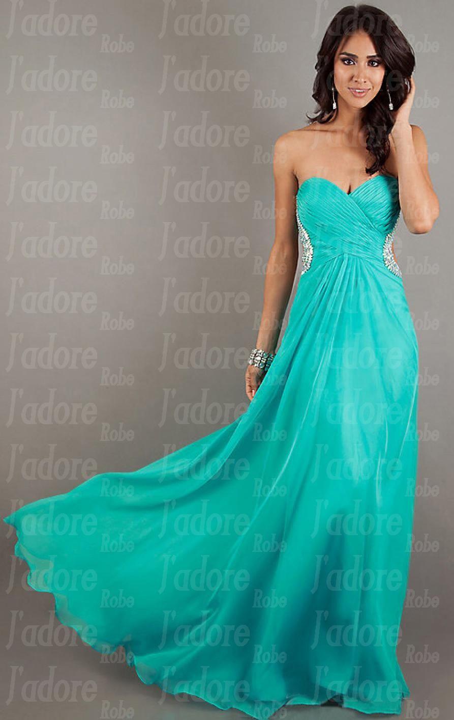 4d56b77a415 Robe de bal bleu turquoise
