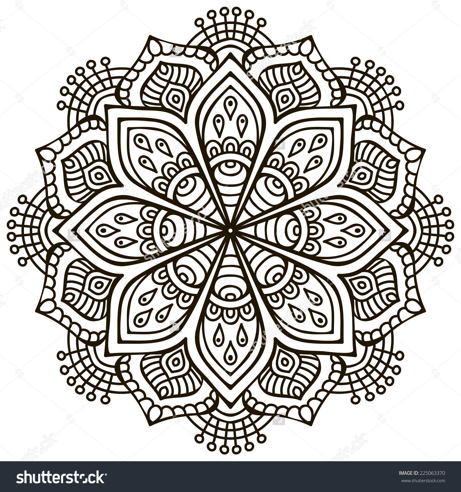 Vintage Patterns Coloring Pages. Craft mandala  coloring pictures Pinterest Mandala Adult