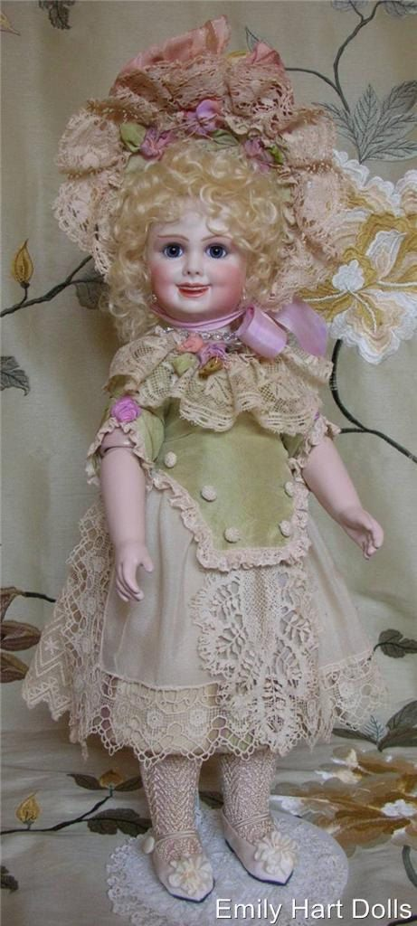 Jumeau 203 porcelain doll by Emily Hart Silk & by emilyhartdolls
