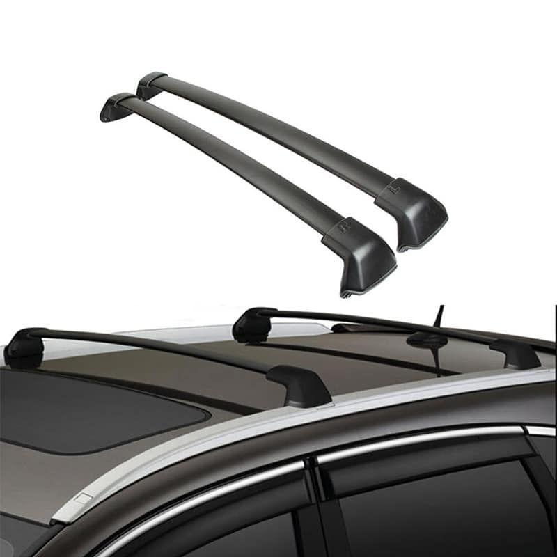 Black Side Rails Car Rooftop Rack Cross Bars For Honda Crv 2012 2016 132 Lbs Or 60kg Pair Honda Crv Honda Rail Car