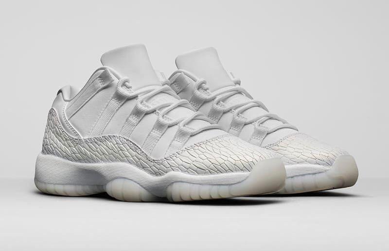 timeless design 98e55 2baf0 The Nike Air Jordan 11 Retro Low Heiress Frost White