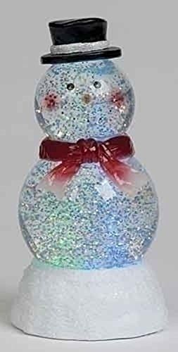 7 5 Battery Operated Lighted Led Snowman Christmas Snow Globe Glitterdome Snow Globes Christmas Snow Globes Battery Operated Lights