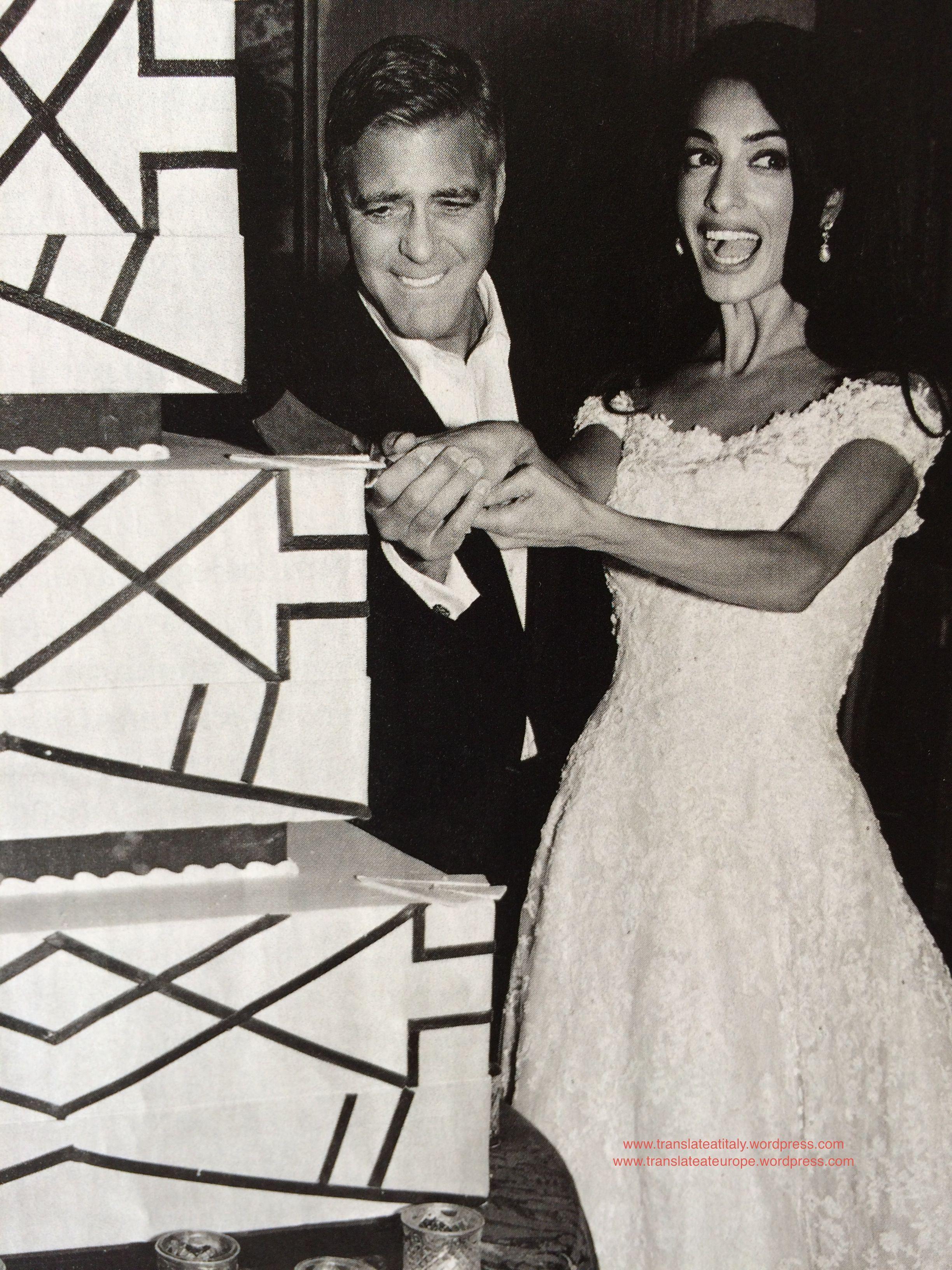 The Wedding Cake George Clooney Wedding Amal Clooney Amal Alamuddin