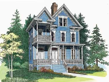 Floor Plans Aflfpw09803 3 Story Queen Anne Home With 3 Bedrooms 3 Bathrooms And 2 566 Total Square Fe Victorian House Plans Queen Anne House Victorian Homes